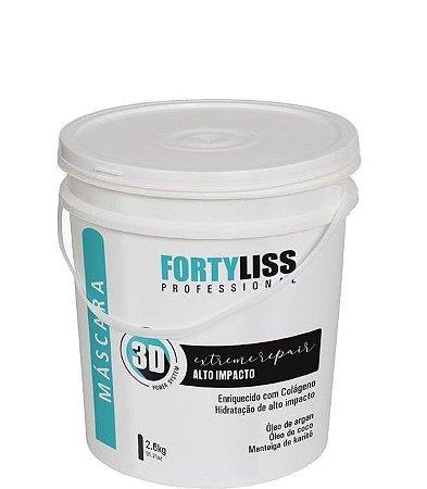 FortyLis Máscara Alto Impacto 3D Profissional Hidratação Capilar 2,6kg