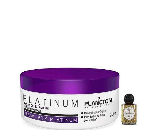 Plancton Btx Platinum Argan e Ojon Sem Formol 250G + Óleo