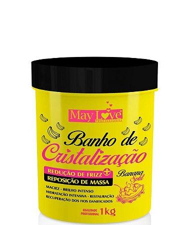 May Love Banho de Cristalização de Banana Redução Capilar 1kg