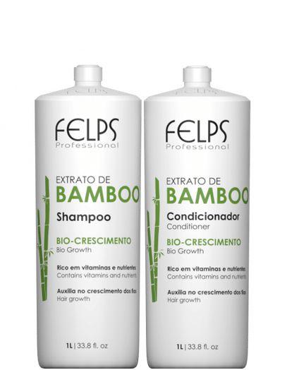 Felps Extrato de Bamboo Kit Shampoo e Condicionador Bio Crescimento 1L