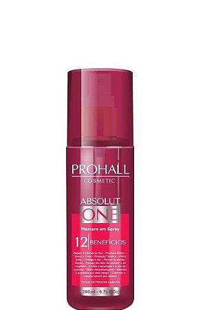 Prohall Máscara em Spray Finalizador Absolut One 12 Benefícios 200ml