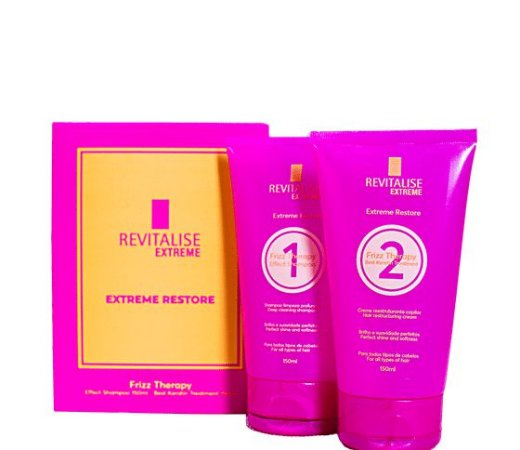 Revitalise Extreme Frizz Therapy Progressiva Sem Formol 2x150ml