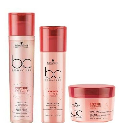 Schwarzkopf Bc Bonacure Peptide Repair Shampoo e Cond e Máscara 200ml