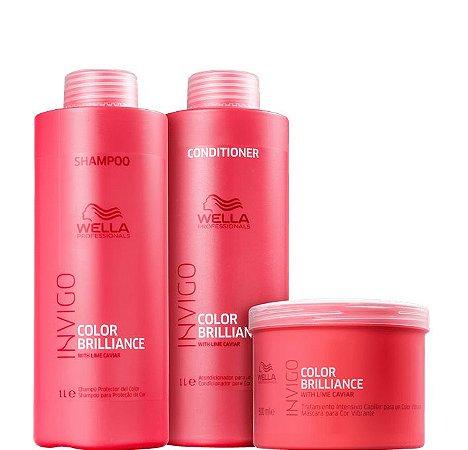 Wella Brilliance Kit Shampoo Condicionador e Máscara Invigo ( 3 Produtos )