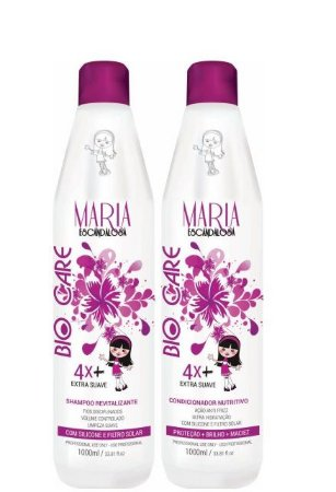 Maria Escandalos Kit Bio Care Shampoo e Condicionador 1 Litro
