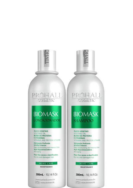 Prohall  Biomask Manutenção Hidratante Shampoo e Condicionador 2x300ml + Brinde