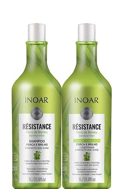 Inoar Résistance Fibra de Bambu Shampoo e Condicionador 1 Litro + Brinde