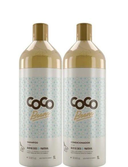 Zap Kit Coco Boom Shampoo e Condicionador P/ Salão Lavatório 2x1 Litro