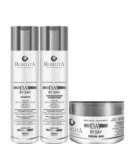 Rubelita Day By Day Kit Nutrição Capilar Shampoo Cond e Máscara