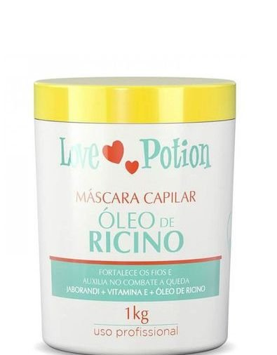 Love Potion Máscara Óleo de Rícino Fortalecimento Capilar 1kg