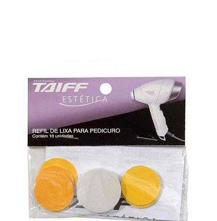 Taiff Estética Refil de Lixa para Pedicuro Soft Feet Kit com 10 Lixas