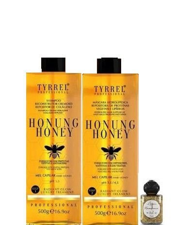 Tyrrel Honung Honey Kit Tratamento Capilar de Mel 2x500g + Óleo