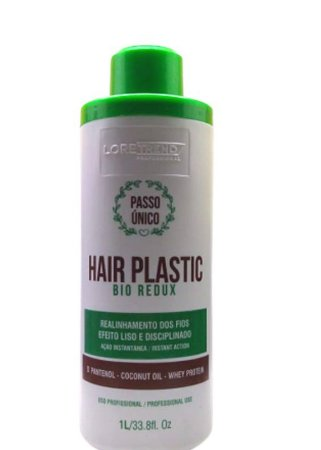 Loretrend Escova Progressiva Hair Plastic Bio Redux Passo Único  Sem Formol 1l