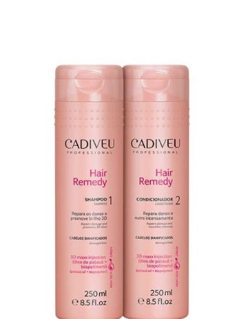 Cadiveu Hair Remedy Kit Shampoo e Condicionador Cuidados Diários 2x250ml