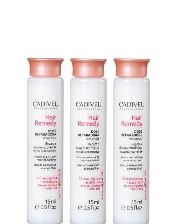 03 Cadiveu Hair Remedy Dose Reparadora - Ampola Capilar 15ml