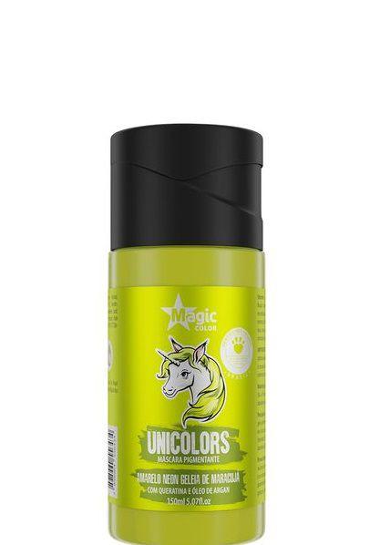 Magic Color Tonalizante Unicolors  Amarelo Neon Geleia de Maracujá 150 ml