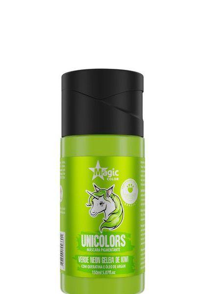 Magic Color Unicolors Máscara Pigmentante Verde Neon Geleia de Kiwi 150 ml