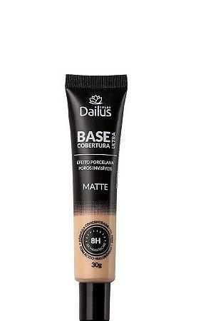 Dailus Base Facial Matte Ultra Cobertura - 04 Bege Claro 30g