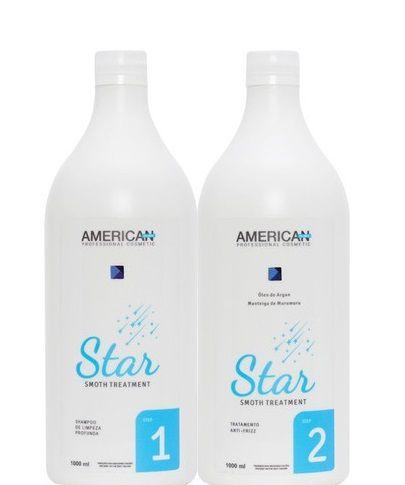 American Desire Escova Progressiva Sem Formol Star Smoth kit 2x1Litro