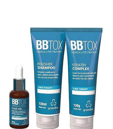 Grandha Bbtox Absolute Repair Kit Manutenção Com 3 Itens