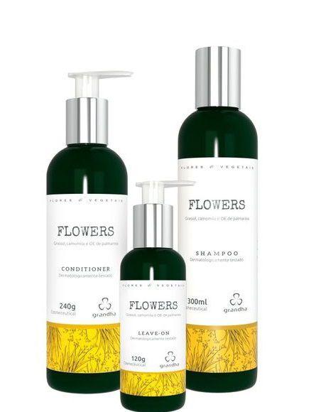 Grandha Flowers Kit Shampoo Condicionador e Leave-on