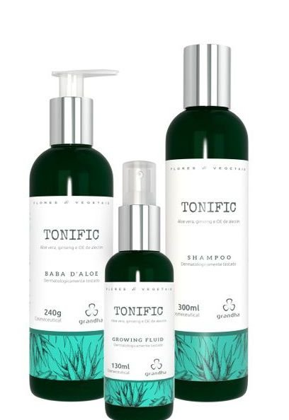 Grandha Tonific Kit Shampoo - Baba D'Aloe e Growing Fluid