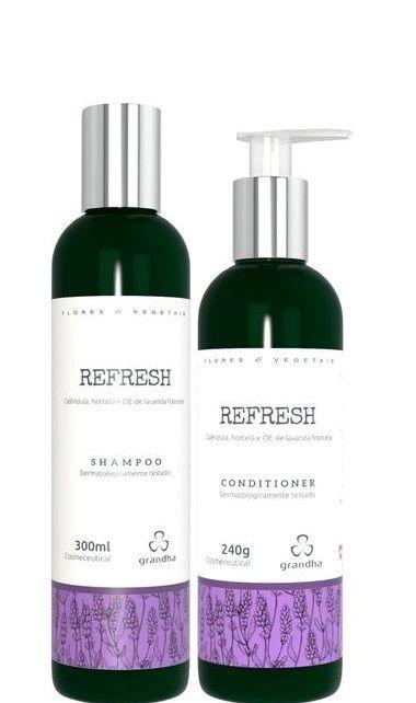 Grandha Refresh Flores e Vegetais Shampoo e Condicionador Cabelos Frágeis