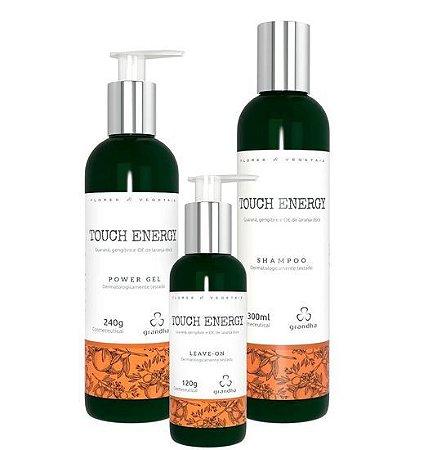 Grandha Kit Touch Energy Power Gel Shampoo e Leave-On (3 Produtos)