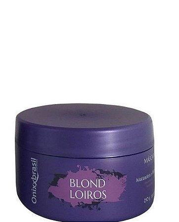 Onixx Brasil Blond Loiros Máscara Matizadora Desamareladora 250g