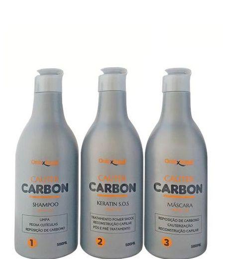 Onixx Brasil Kit Cauter Carbon Cauterização Capilar 3x500ml