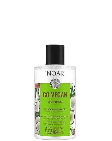Inoar Go Vegan Shampoo Óleo de Coco de Manteiga de Karitê 300ml