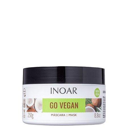 Inoar Go Vegan Máscara Óleo de Coco de Manteiga de Karitê 250gr