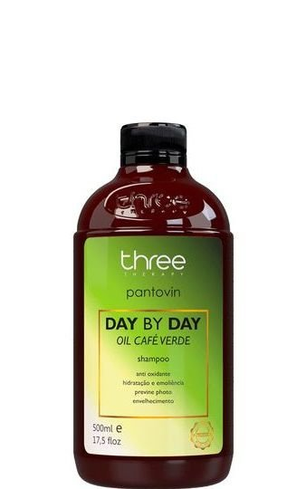 Three Therapy Pantovin Shampoo Day By Day Café Verde 500ml