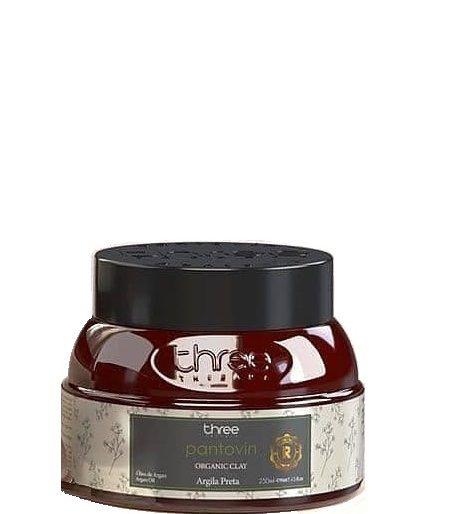 Three Therapy Máscara de Reconstrução Argila Preta Organic Clay 250g