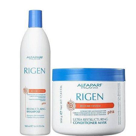 Alfaparf Rigen Restructuring Kit Shampoo e Máscara 500g