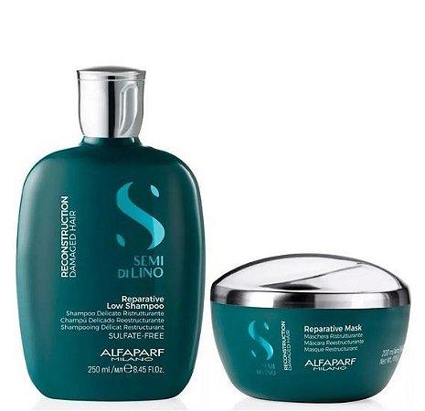 Alfaparf Semi Di Lino Reconstruction Kit Home Care Shampoo e Máscara