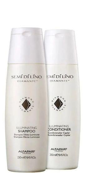 Alfaparf Semi Di Lino Diamante Illuminating Shampoo e Conditioner 2x250ml