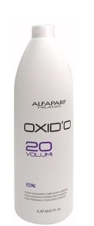 Alfaparf Oxid'o 6% Água Oxigenada Estabilizada 20 Volumes 1Litro