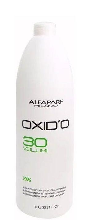Alfaparf Oxid'o 9%  Água Oxigenada Estabilizada 30 Volumes 1Litro