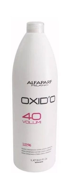 Alfaparf Oxid'o 12% Água Oxigenada Estabilizada Cremosa 40 Volumes 1L