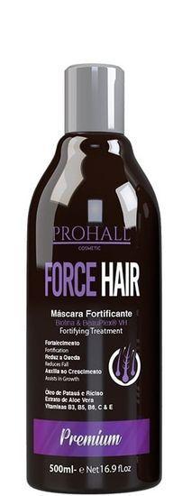 Prohall Máscara De Crescimento Capilar Fortificante Force Hair 500ml