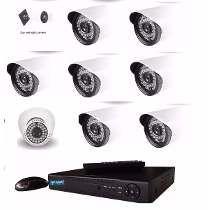Kit Dvr 08 Cameras Ahd Infra Jortan Full Hd Alta Resolução