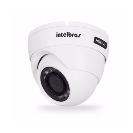 Câmera Dome Infravermelho Multi HD 4 em 1 Intelbras VHD 1120 D G3 HD 720p 2,8mm - HDCVI, HDTVI, AHD, ANALÓGICO