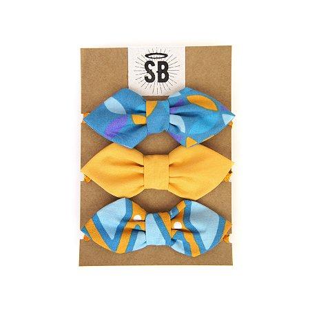 Trio Laços Diamante Golden Blue