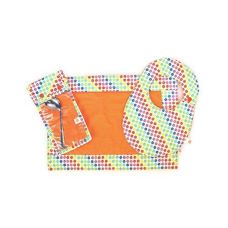 Conjunto Refeição 3 Peças Rainbow Colours + Colher Inox