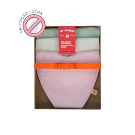 Trio Prendedor Colorê Rosa Proteção Extra