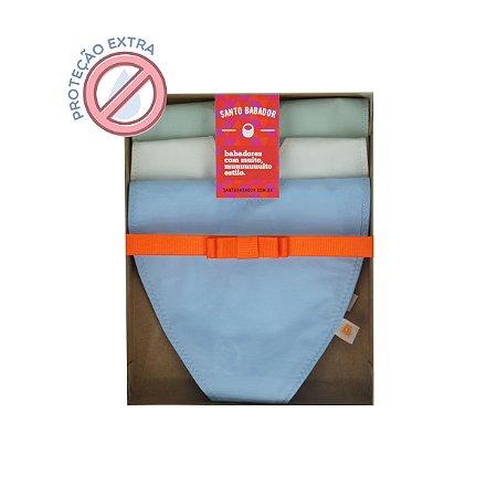 Trio Prendedor Colorê Azul Proteção Extra
