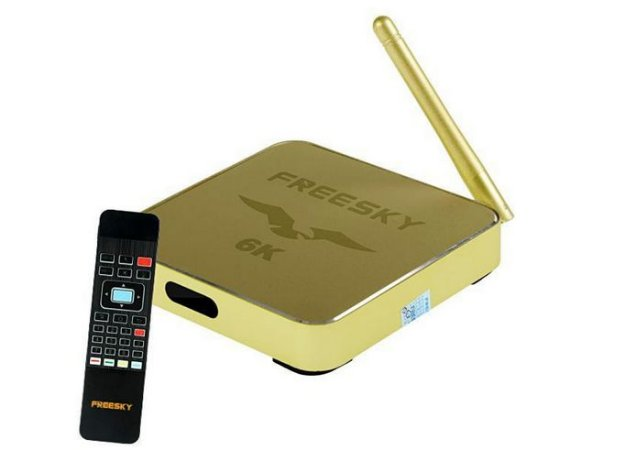 Receptor Freesky 6K VOD H265 Android IPTV Wi-FI