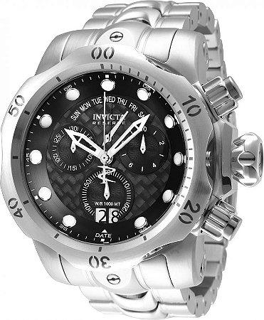 Relógio Invicta Reserve Venom 33712 Banho Prata Suíço