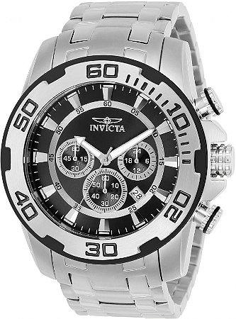 Relógio Invicta Pro Diver 22318 Banho Prata Cronógrafo